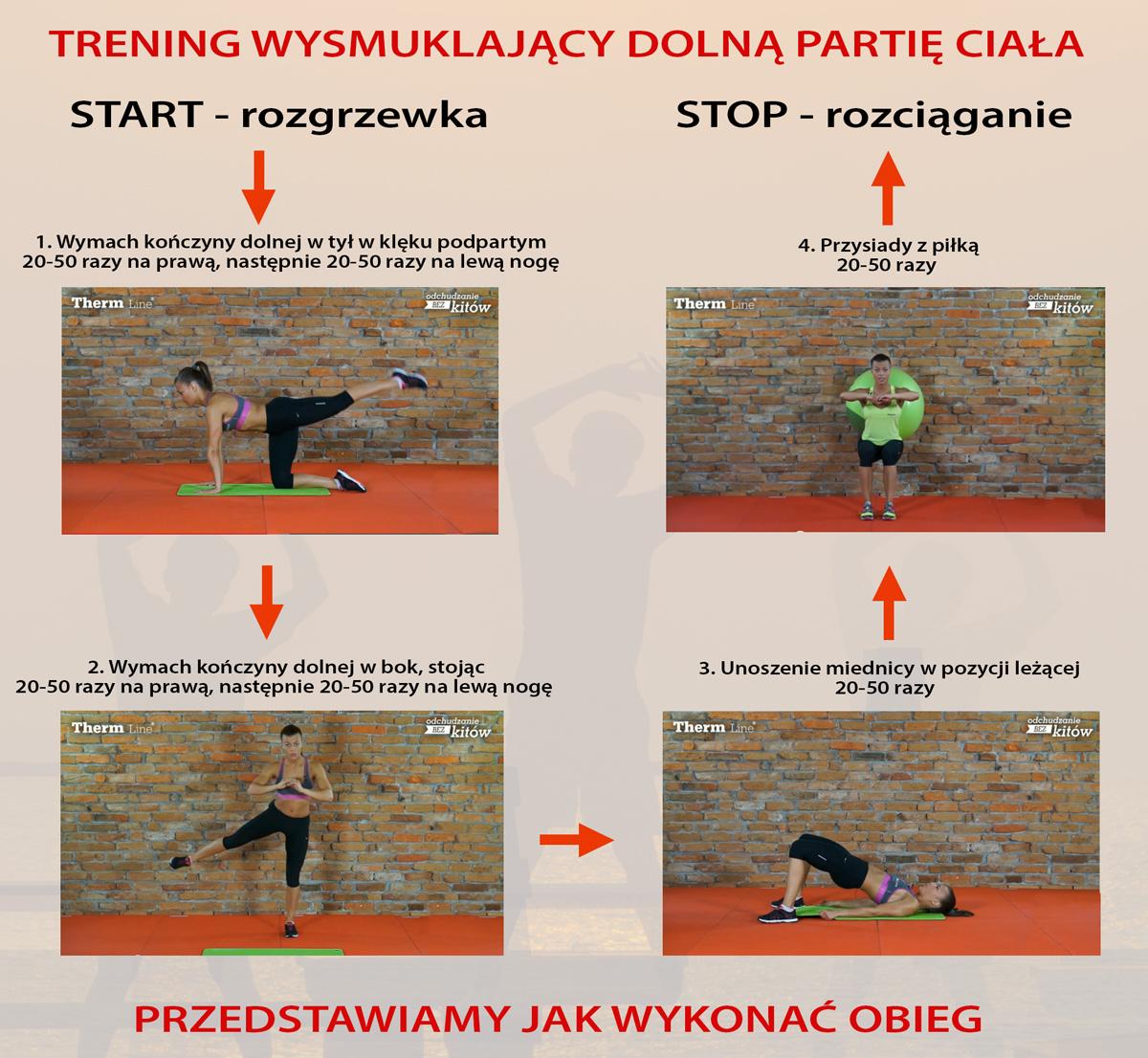 miesięczny trening dla kobiet wysmuklający dolną partię ciała